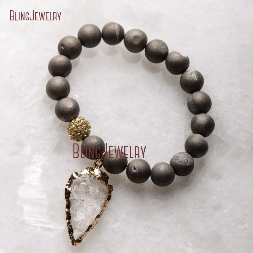 20181201-BM17426-Latest Arrowhead Clear Crystal Bracelet On Sale_29