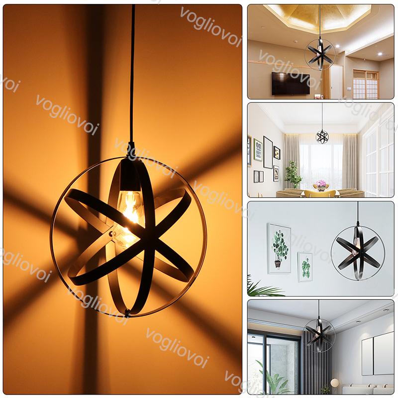 Neu Retro Ventilator Dekor Design Deckenleuchte Anhängende Leuchte 5-Glühbirne