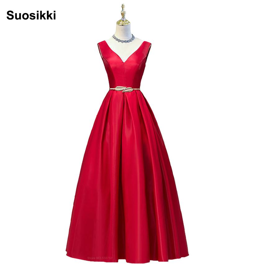 Abiti Eleganti Xs.Vendita All Ingrosso Di Sconti Vestito Elegante Rosso Xs Lungo In