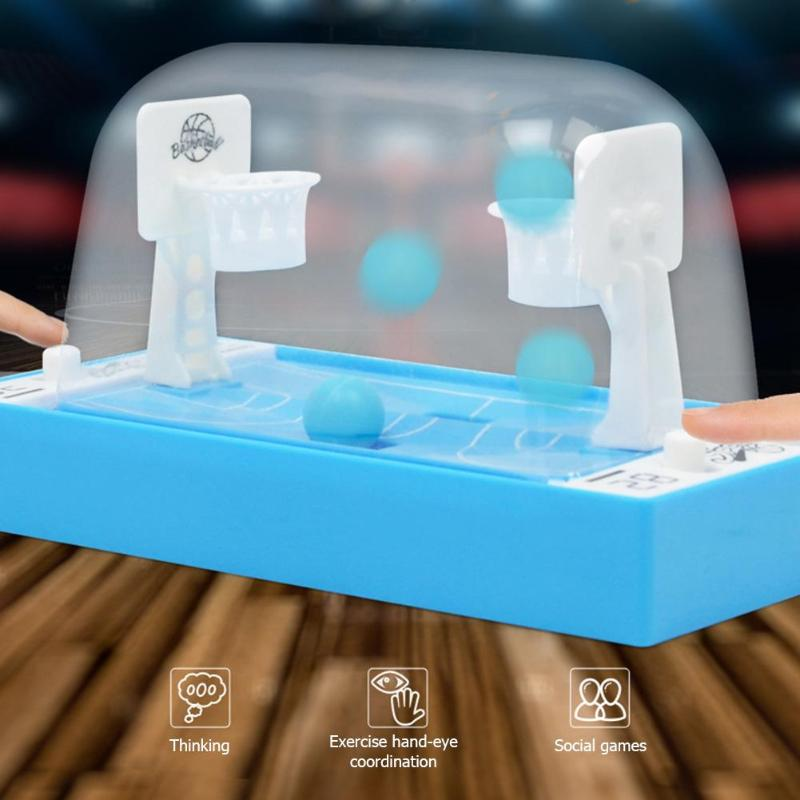 Mini Basketball Finger Shooting Toys Desktop Parent-Child Interactive Game