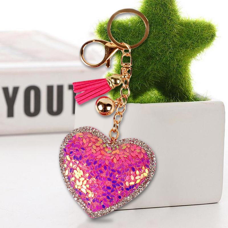 Da.Wa Accessoires de mode Or cuir en forme de coeur gland pendentif porte-cl/és t/él/éphone ensembles accessoires
