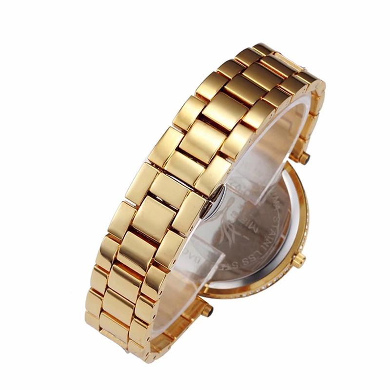 MISSFOX 30m Life Waterproof Gold Women Quartz Watch Fashion Bling Casual Ladies Watches Crystal Diamond Leopard for Women Clock (8)