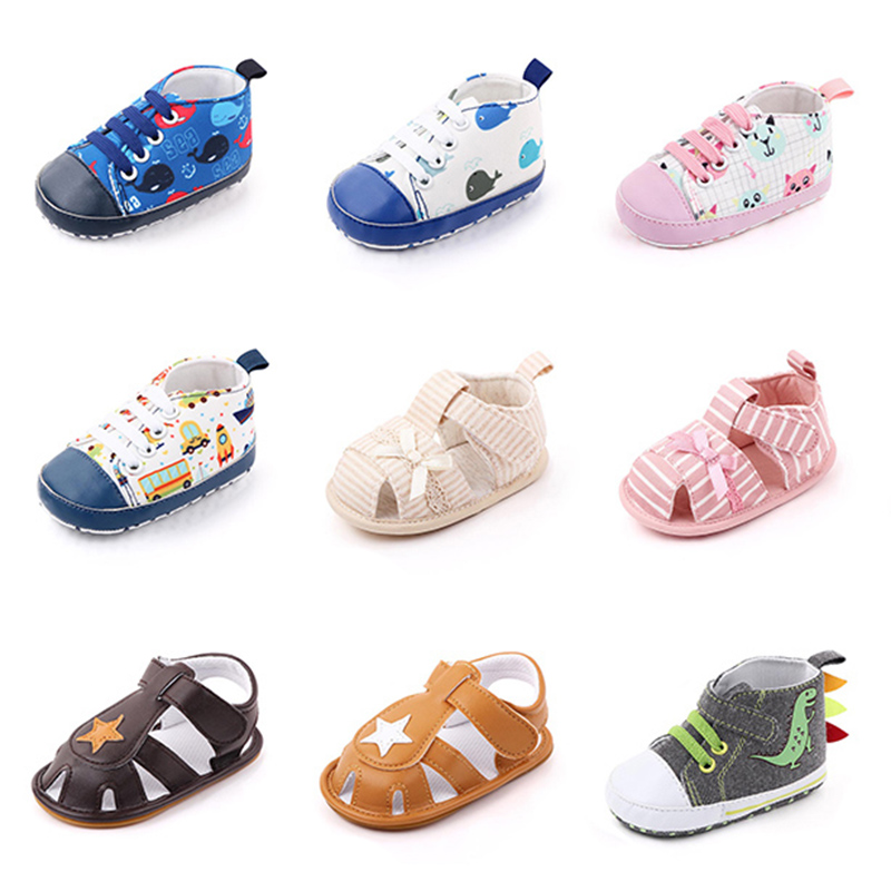 Baby Boys Girls PU Leather Toddler Sneaker Anti-Slip First Walkers Shoes 0-24 Months