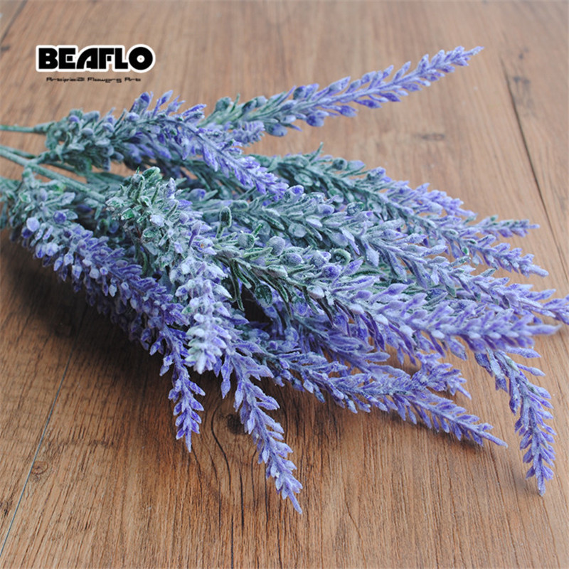 Romantic Provence Lavender Flower Silk Artificial Flowers plants Fake Artificiales Flores Wedding Home Garden Table Decoration C18112601