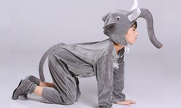 UNISEX KIDS BOYS GIRL ELEPHANT COSTUME JUMPSUIT DUMBO ANIMAL THEME FANCY DRESS