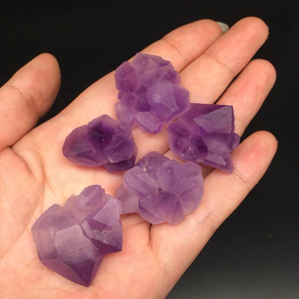 Amethyst cluster points 4
