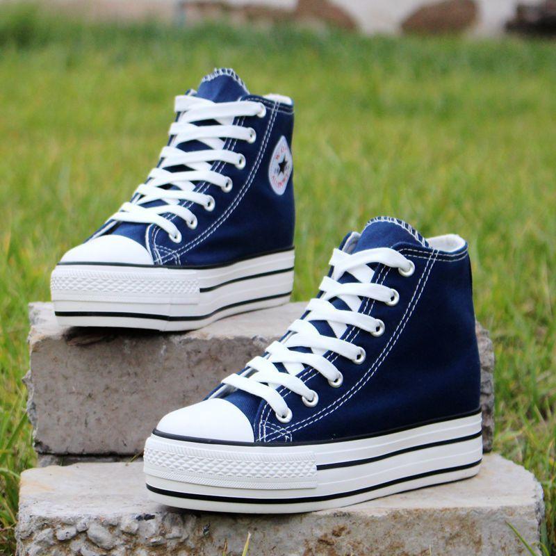 Vigor Tazelik Kadın Kanvas Ayakkabılar Iç Bahar Kadın Kadın Vulkanize Artırmak Sneakers Öğrenciler Sonbahar Tenis Ayakkabı 6 cm Wy345 MX190723