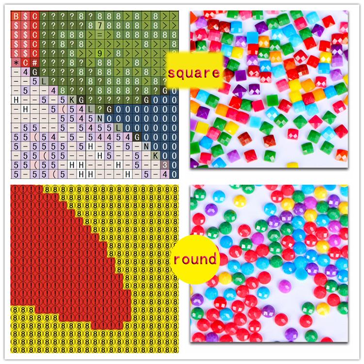 5D DIY kit de pintura llena de diamantes de diseño de dibujos animados hechos a mano redonda o cuadrada de perforación de diamante cruz kits de bordado de punto de la decoración del hogar regalo
