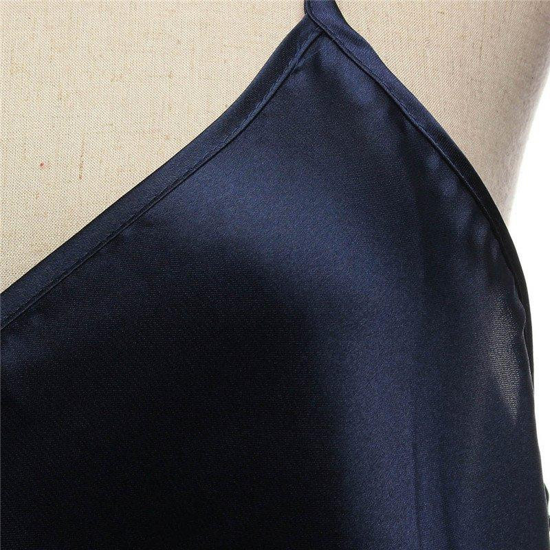 Fashion 7 Colors 2015 Summer Women Sleepwears V-Neck Sleeveless Pajamas Nightgowns Sexy Slim Sleep Dress Casual Nightwear S-XXL (3)