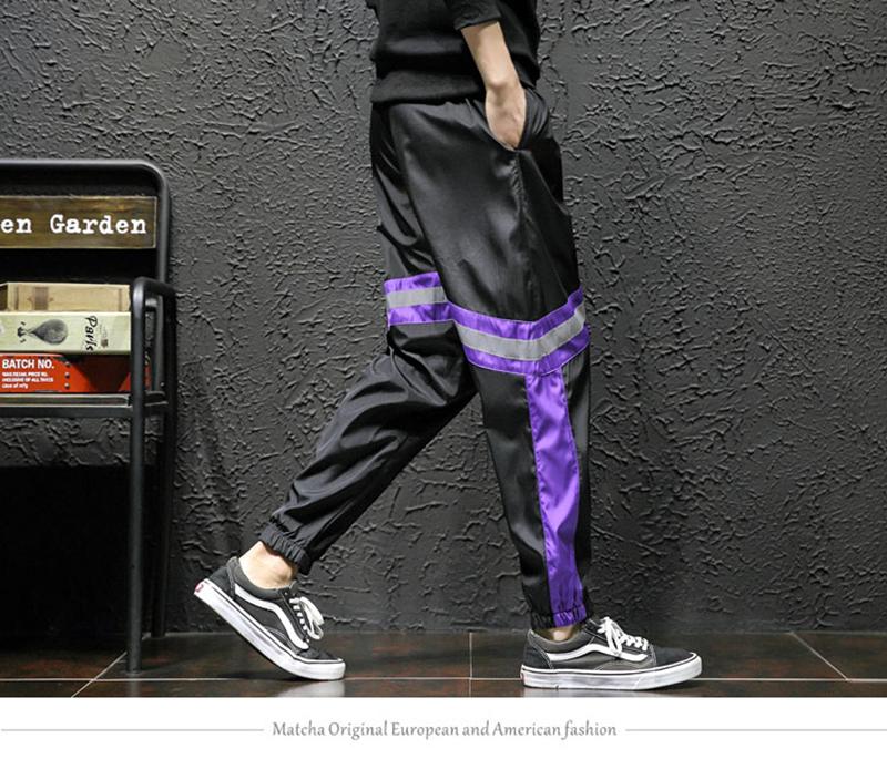 Loose Hip Hop Cargo Pants Men Camouflage Patchwork Harem Mens Trousers Streetwear (20)