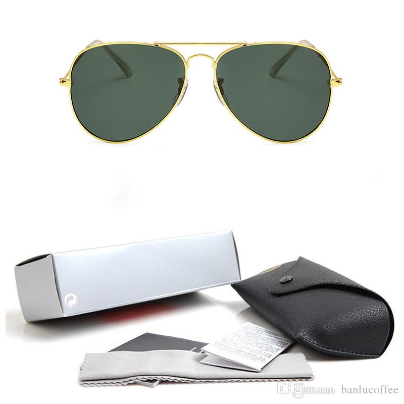 2018 High quality Polarized lens pilot Fashion Sunglasses For Men and Women Brand designer Vintage Sport Sun glasses