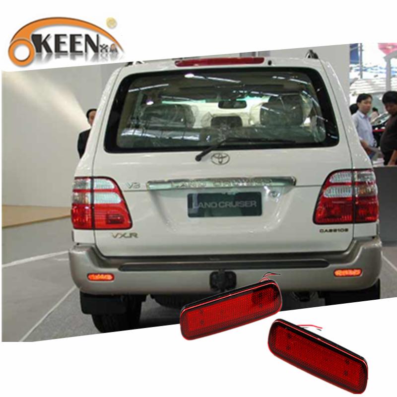 Toyota Land Cruiser 100 için / Cygnus LX470 Araç LED Arka Tampon Reflektör Işık ışık Fren Lambası Tail Lantern Uyarı LED