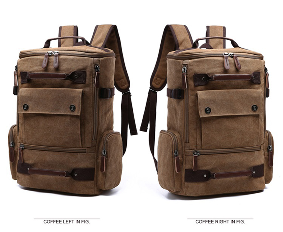 3 Canvas Backpack 15.6