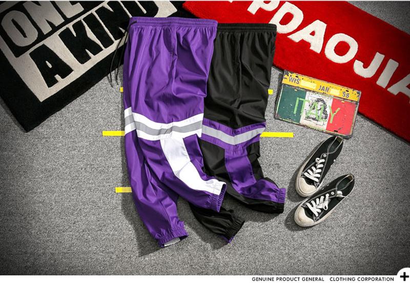 Loose Hip Hop Cargo Pants Men Camouflage Patchwork Harem Mens Trousers Streetwear (29)