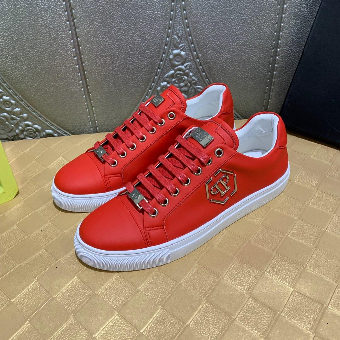 Men Suede Leather Red Men's Casual Sneakers, Matter Spiked Toe Skateboarding Shoes