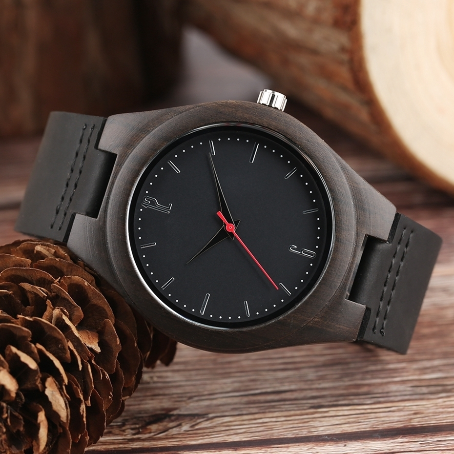 Lovers Gifts Luxury Royal Ebony Wood Watch Mens Fashion Wooden Women Dress Hour Clocks Soft Genuine Leather Relojes Wristwatches 2018 (13)