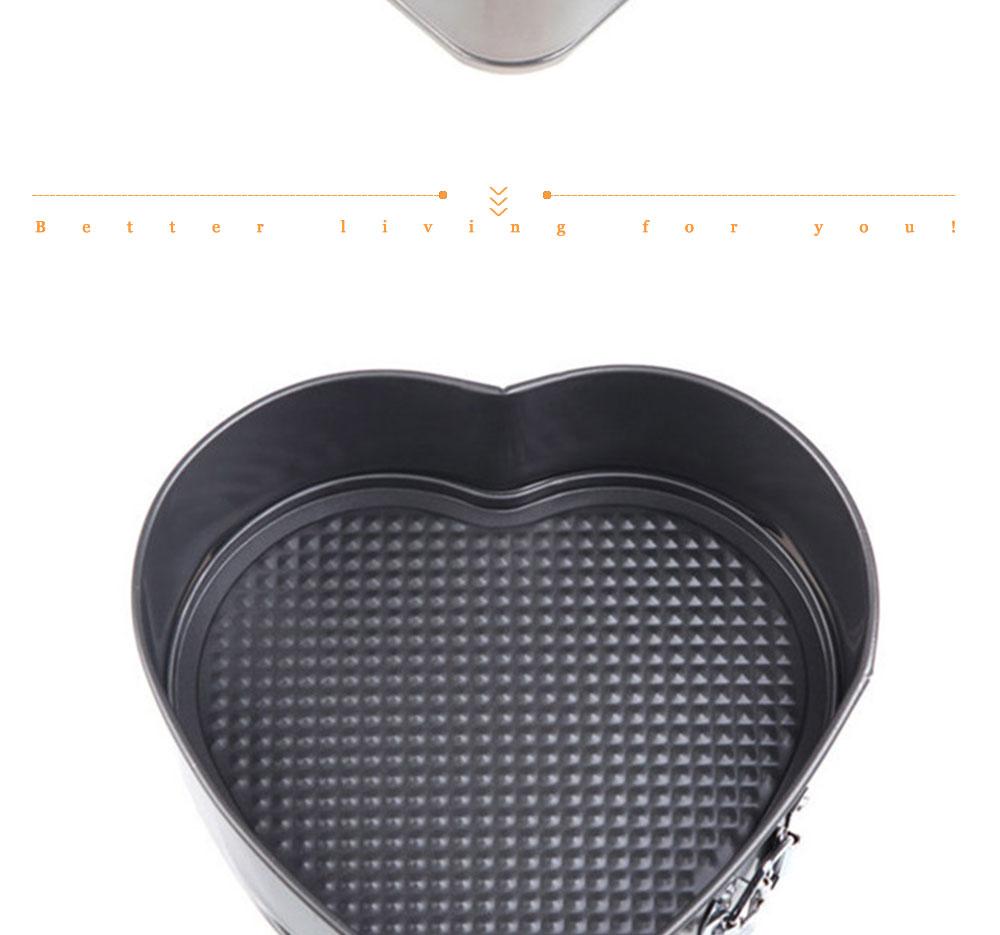 Baking Pastry Tools Square Round Heart Shapes Cake Mold Non-stick Springform Cake Baking Pan Set Cake Tools (8)