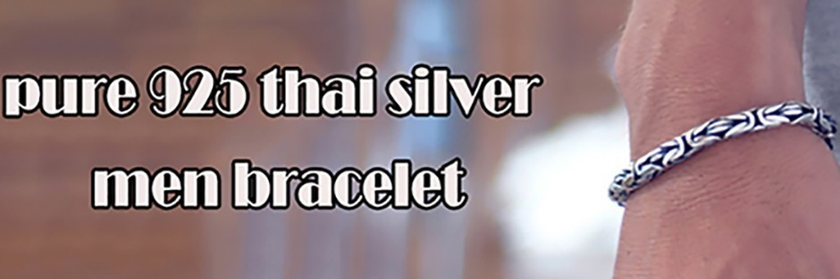 men bracelet silver