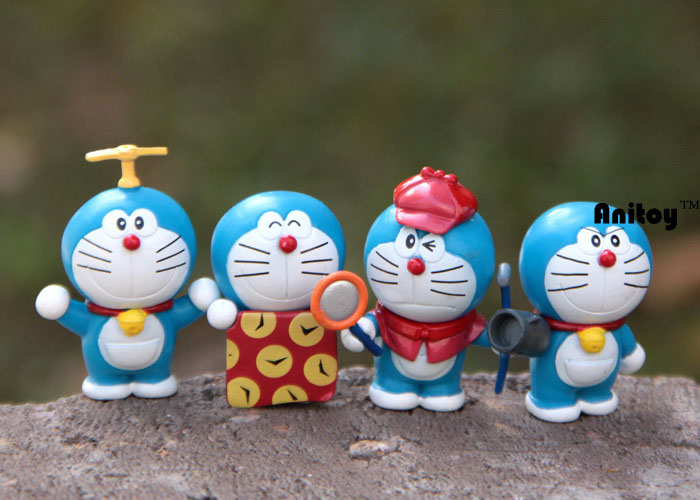 Anime Catoon Cute Doraemon Mini dolls PVC Action Figure Collectible Model Toys Girls Boys Children's Gift 4-6cm KT174