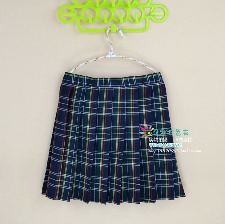 Kawaii Campus Style Plus Size delle donne Xs-4xl Uniforms Gonna le donne Studenti di alta qualità a vita alta plaid a pieghe gonne Y19043002
