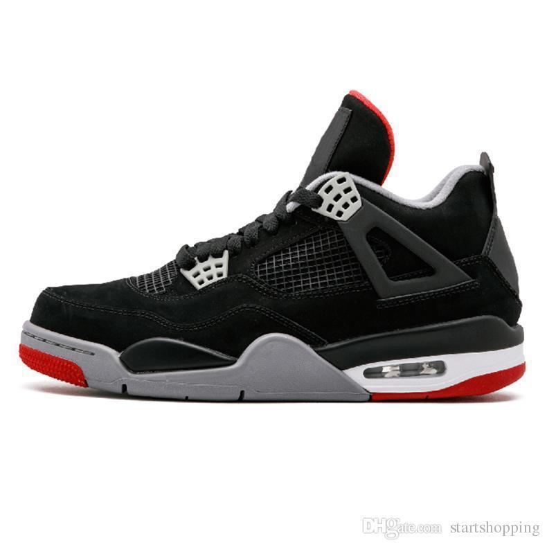 4 4s Sapatos de Basquete Homens On-line Dinheiro Puro Realeza Cimento Raptors Black Cat Criados Fogo Red Mens Formadores Sports Sneakers Sale Discount Shoes