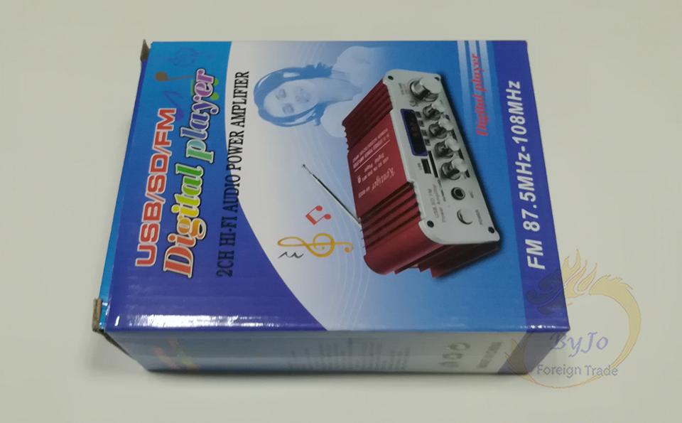 HY803 Mini Amplificatore Amplificatore auto Amplificatore Bluetooth 40 W + 40 W FM MIC MP3 supporto USB auto da casa CA 220 V o CC 12 V
