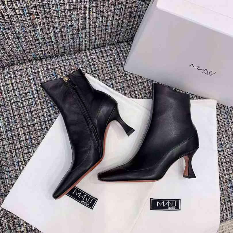 HOT Luxury Full Leather women s boots Designer style high quality fashion Female short boots Ladies shoes