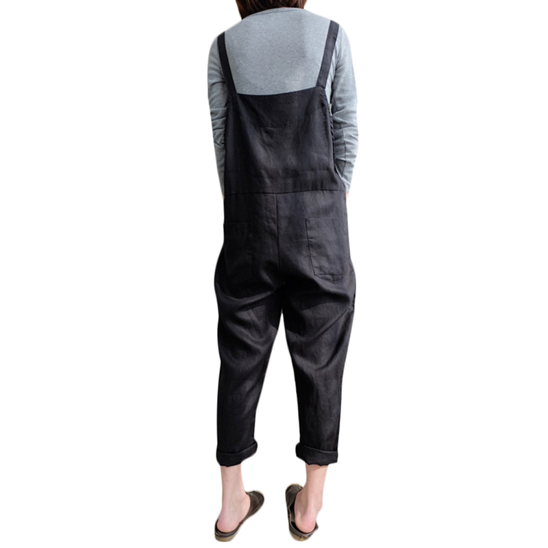 Hot Fashion Women Girls Loose Solid Jumpsuit Strap Dungaree Harem Trousers Ladies Overall Pants Casual Playsuits Plus Size 5XL