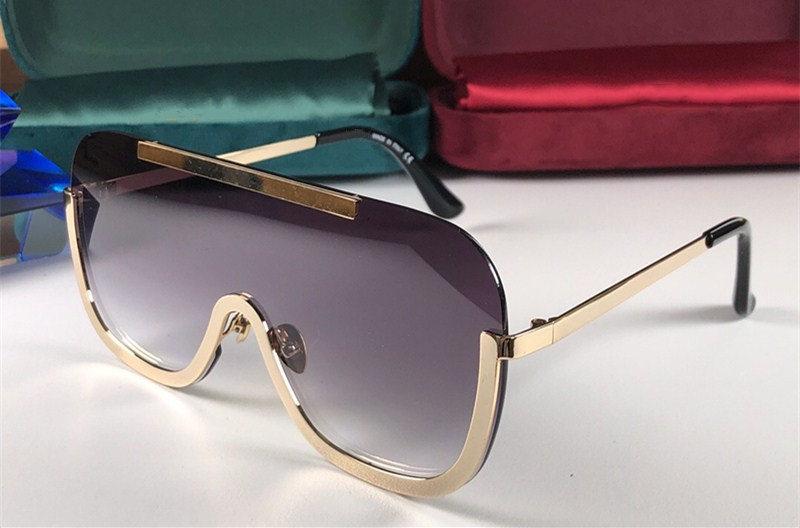 4698 New Sunglasses For Women and Men Fashion Sunglasses Wrap Sunglass Half frame metal Coating Mirror Lens Carbon Fiber Legs Summer Style