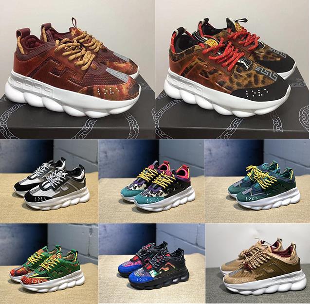 Réaction de la chaîne bas talons baskets hommes de luxe chaussures de designer de luxe femmes femmes formateurs de sport occasionnels chaussures de