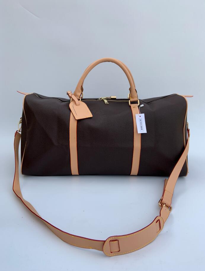 Travel Luggage Bag Graphite PU Leather Handbag Men Travel Bags Mens Travel Totes Bag Mens Duffle Bag 60CM