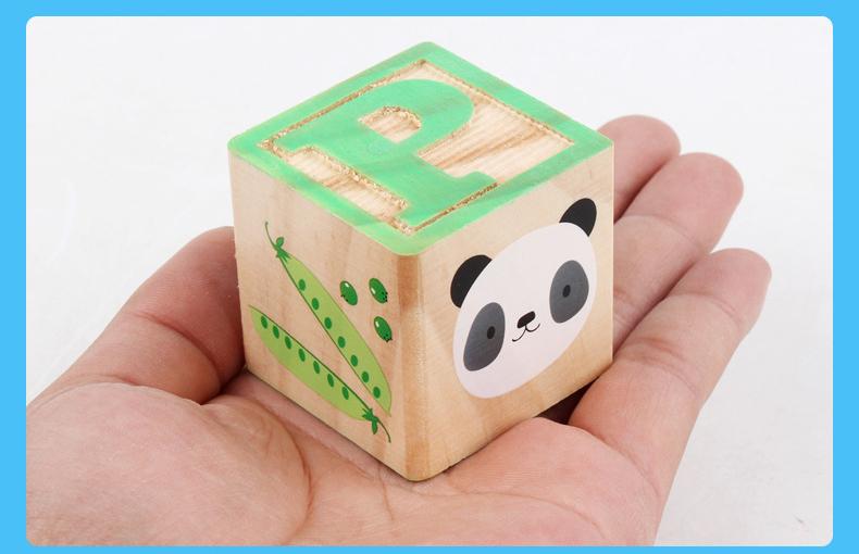 아기 Y200111에 대한 어린이 몬테소리 알파벳 문자 디지털 조기 학습 자료는 나무 ABC 큐브 블록 교육 장난감 선물