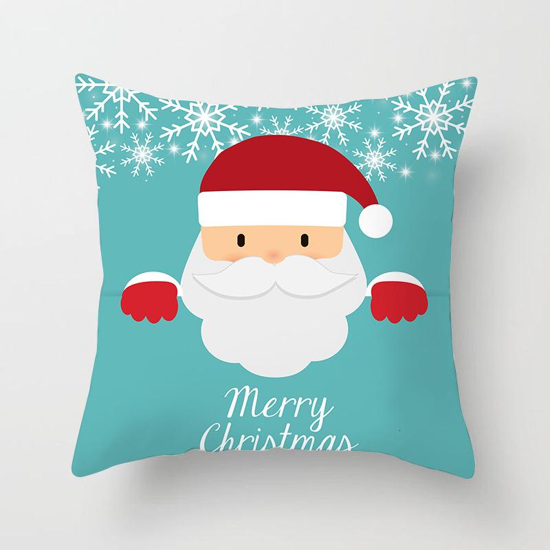 1Pcs 4545 Cm Happy New Year Christmas Decorations for Home Cartoon Santa Claus Xmas Decorative Pillows Cover adornos navidad (8)