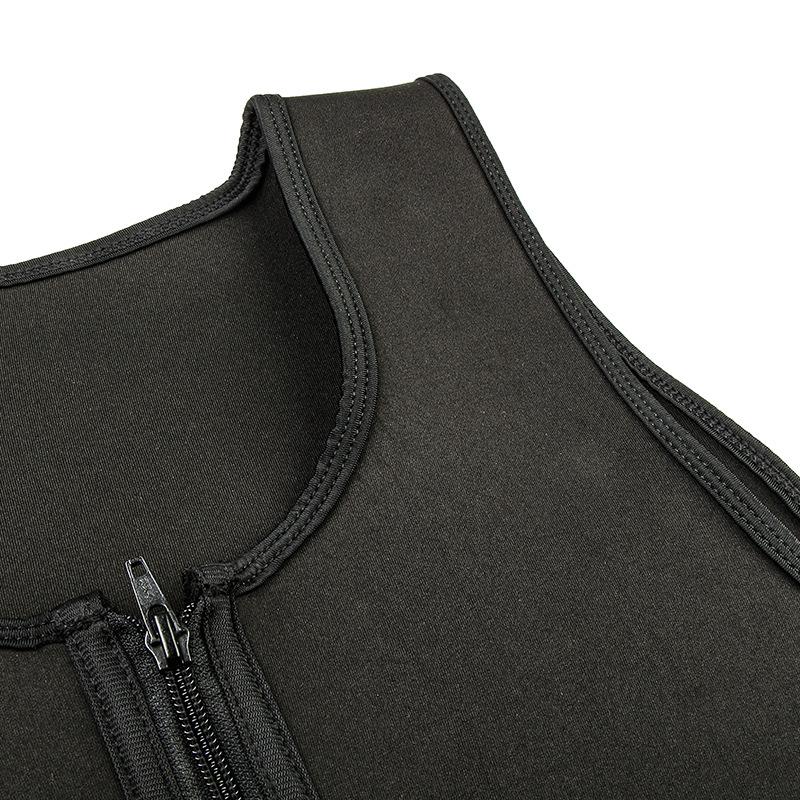 CXZD 2019 Men Waist Trainer Vest for Weightloss Hot Neoprene Corset Body Shaper Zipper Shapewear Slimming Belt Belly Men (15)