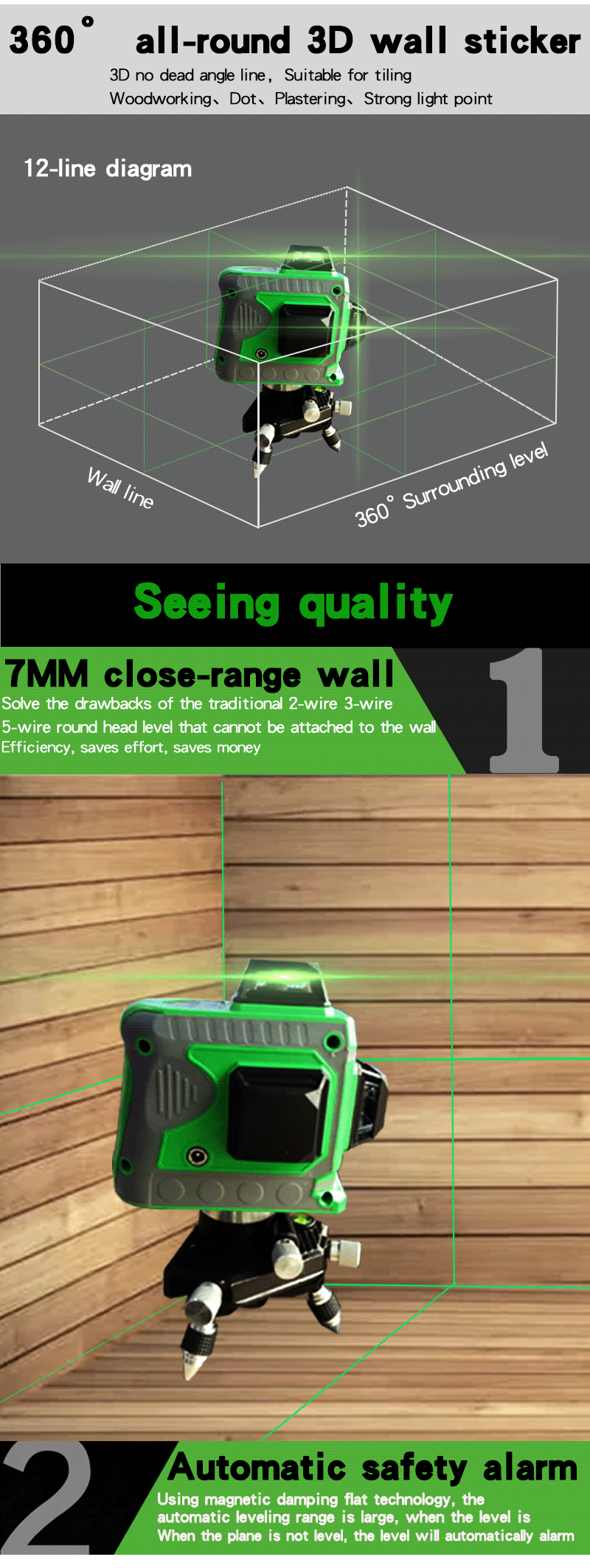 [QNCB_7524]  2020 12 Lines 3D Laser Level Green Laser With Battery 360 Horizontal And  Vertical Cross Laser Line Self Leveling For Indoor & Outdoor From Meiqi01,  $110.61 | DHgate.Com | Laser Level 360 Wire Diagram |  | DHgate