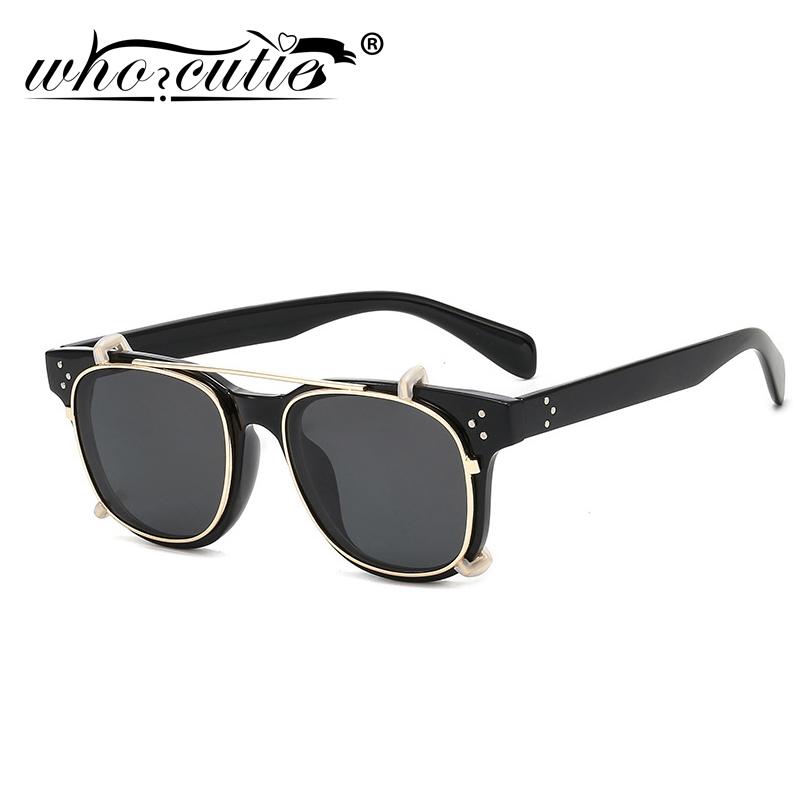 Retro Johnny Depp Clip-on Sunglasses Lens Round Polarized Flip-up Sunglass Lens