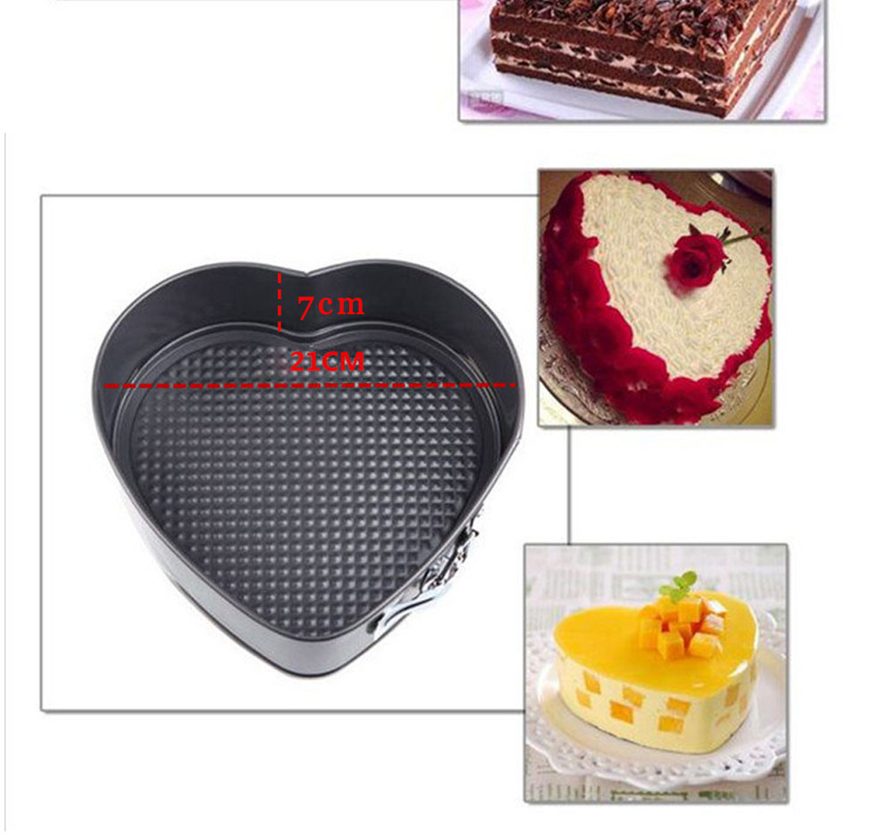 Baking Pastry Tools Square Round Heart Shapes Cake Mold Non-stick Springform Cake Baking Pan Set Cake Tools (13)