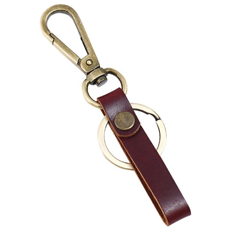 Cuir Véritable Acier libération rapide porte-clés Key Holder Keychains CLIP CEINTURE