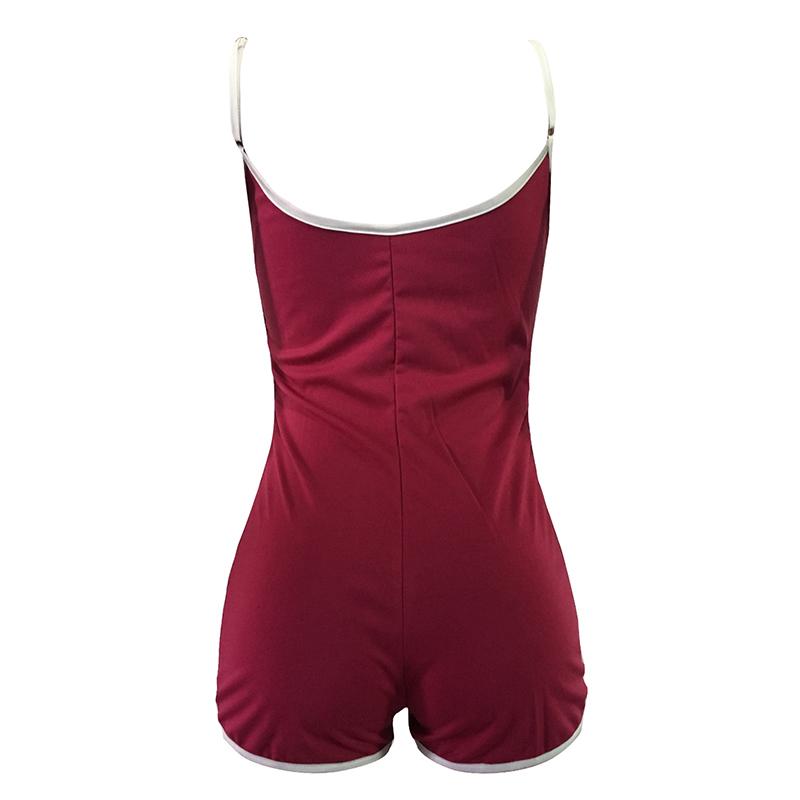 Sexy Women Sleeveless Playsuit Spaghetti Strap Drawstring Waist Summer Bodysuit Slim Slip Rompers Womens Jumpsuit Tracksuit 2018