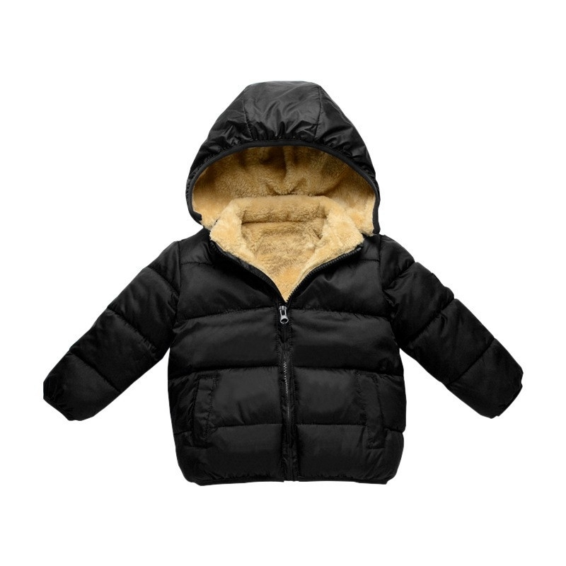 COOTELILI Fleece Winter Parkas Kids Jackets For Girls Boys Warm Thick Velvet Children