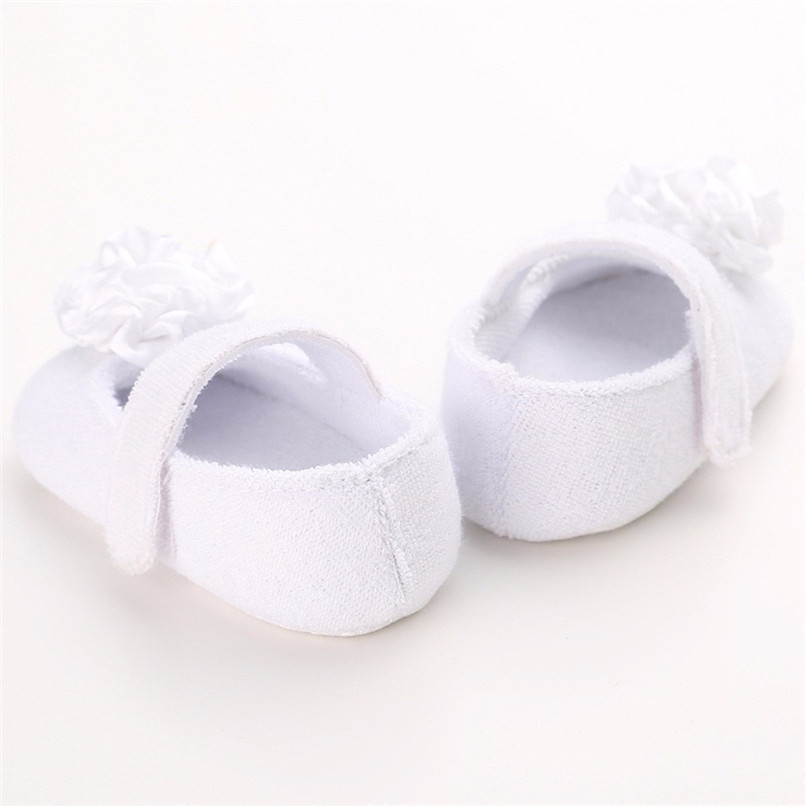 Baby Girls Shoes Fashion Newborn Infant Baby Girls Flower Pearl Soft Sole Anti-slip Princess Shoes Baby First Walker JE25#F (9)