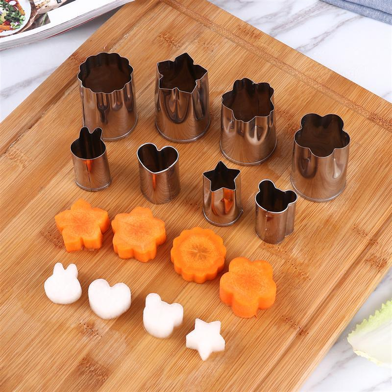Sandwich Cutters Set Stainless Steel Vegetable Molds And Plastic Bread Cutters And Handles J190722