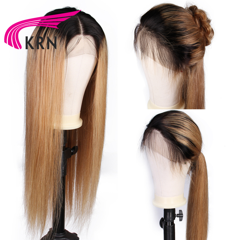 omber lace front human hair wigs