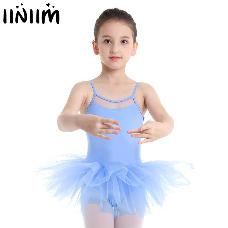 inlzdz Kids Girls Sparkly Rhinestone Figure Skating Ballet Dance Dress Skate Costume Sports Gymnastics Leotard with Skirt
