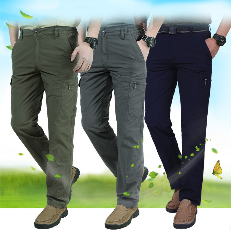YYF Mens Cargo Pants Outdoors Work Wear Casual Multi-Pockets Pants Tactical Cargo Pants