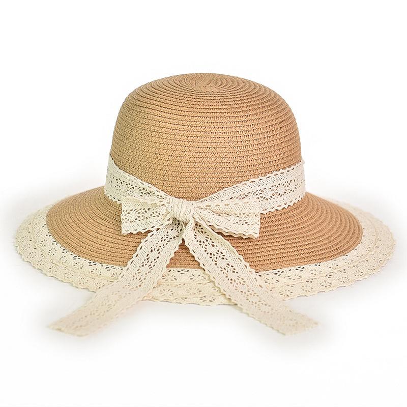 UK/_ SUMMER PRINCESS BABY GIRL LACE HEART BOWKNOT BEACH BUCKET SUN PROTECT HAT NI
