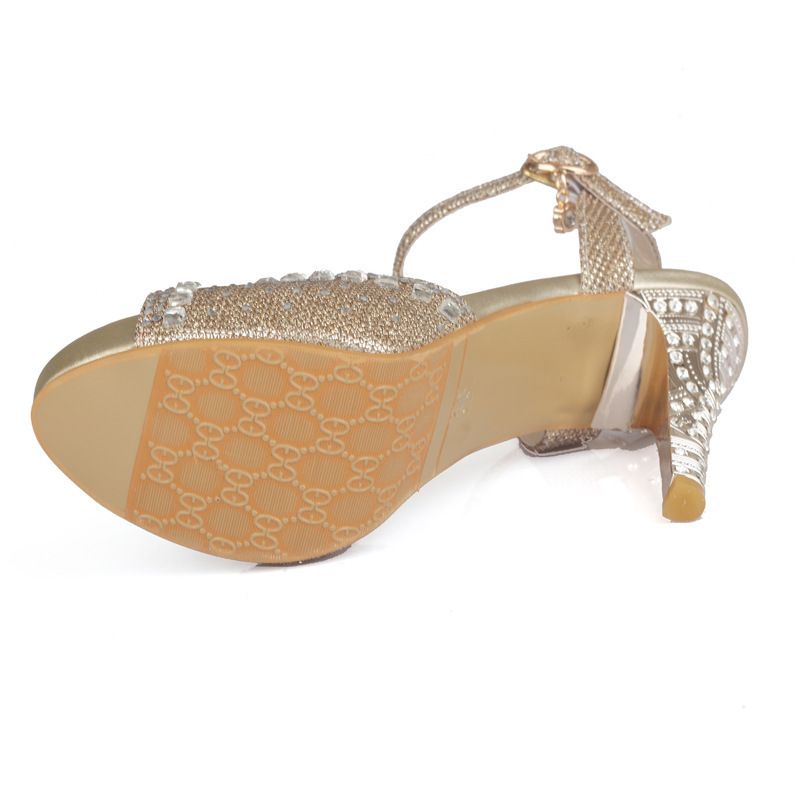 Hot2019 High Sandals Hot Drilling Waterproof Platform Metal Fine With Will Women's Shoes 40-43 Banquet For Many Years Living Yx -5