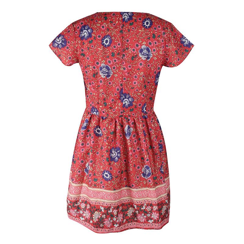 Forefair Retro Boho Dress Mini Summer (18)