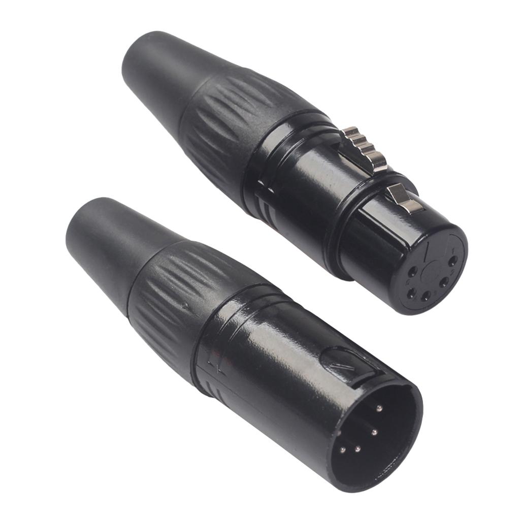 TA3F XLR 3Pin Connettore a Spina inline presa per microfono donna Argento
