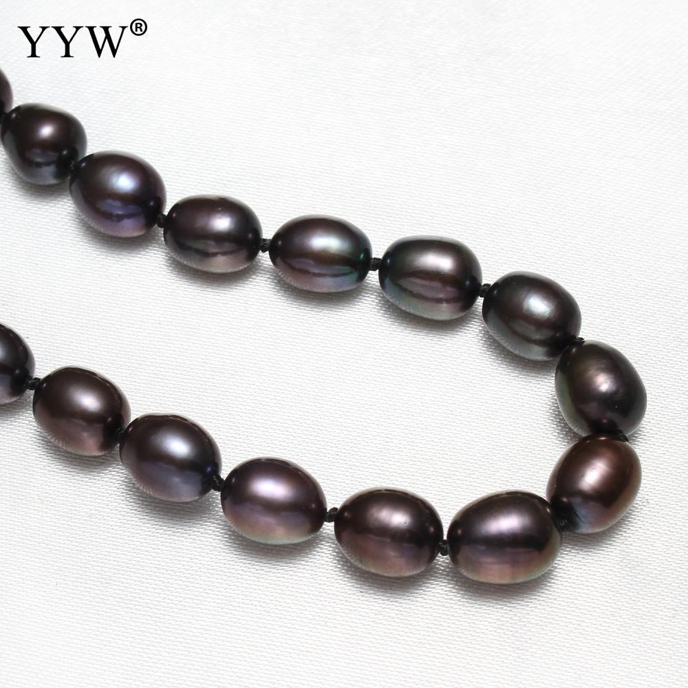 natural freshwater pearl necklace wedding pearl necklaces for women mother birthday anniversary best gift blue purple pearls